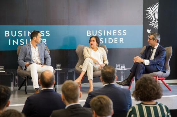 Manuel del Campo, CEO de Axel Springer España, Almudena Román, directora general de banca para particulares de ING y Eugenio Solla Tomé, director general de banca de particulares de Bankia.