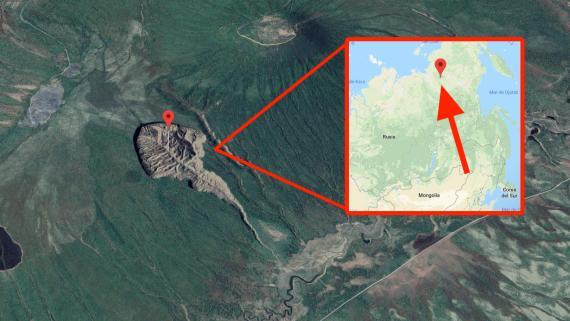 El cráter Batagaika, en la región rusa de Siberia