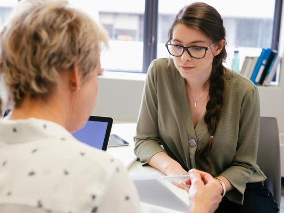 A financial adviser helps clients develop good money habits.