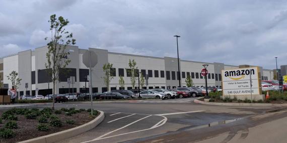 Amazon's massive Staten Island-based fulfillment center.