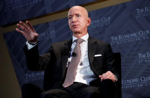 Jeff Bezos, presidente y CEO de Amazon