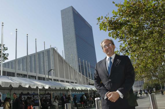 José Manuel González-Páramo, consejero ejecutivo de BBVA , en la sede de las Naciones Unidas en Nueva York.