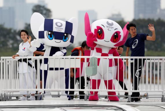 Miraitowa y Someity, mascotas de los Juegos Olímpicos de Tokio 2020.