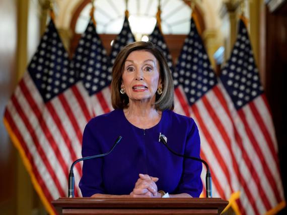 Nancy Pelosi, presidenta de la Cámara de Representantes de los Estados Unidos.
