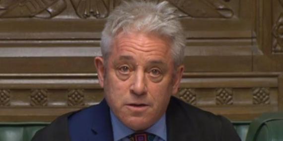 l presidente de la Cámara de los Comunes, John Bercow.
