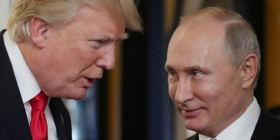 US President Donald Trump and Russian President Vladimir Putin in Vietnam in November 2017.