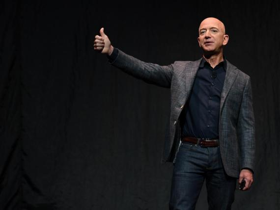 El CEO de Amazon Jeff Bezos.