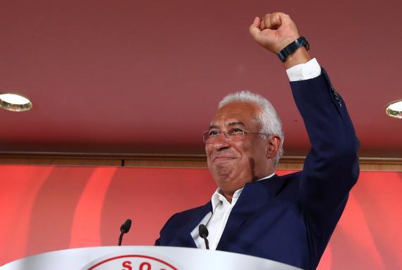 António Costa, candidato socialista en las elecciones legislativas de Portugal.