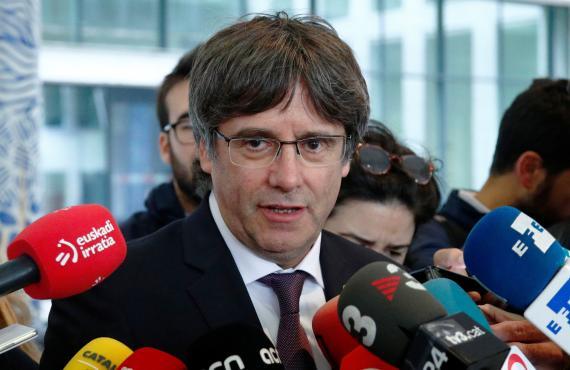 Carles Puigdemont, tras acudir al Palacio de la Justicia en Bruselas.