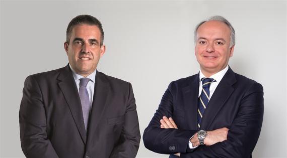 Víctor del Pozo, consejero delegado de El Corte Inglés, y Javier Catena, responsable de la nueva unidad de negocio de Real Estate.