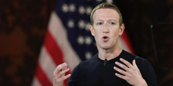 Facebook CEO Mark Zuckerberg speaks at Georgetown University, Thursday, Oct. 17, 2019, in Washington.