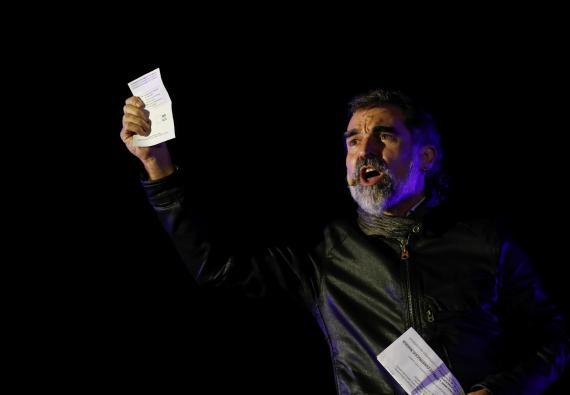 Jordi Cuixart en una manifestación a favor del referéndum del 1 de octubre de 2017.
