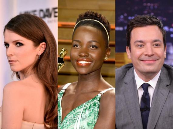 Desde la izquierda: Anna Kendrick, Lupita Nyong'o y Jimmy Fallon.