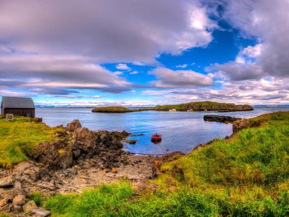 Vistas desde una isla de Islandia