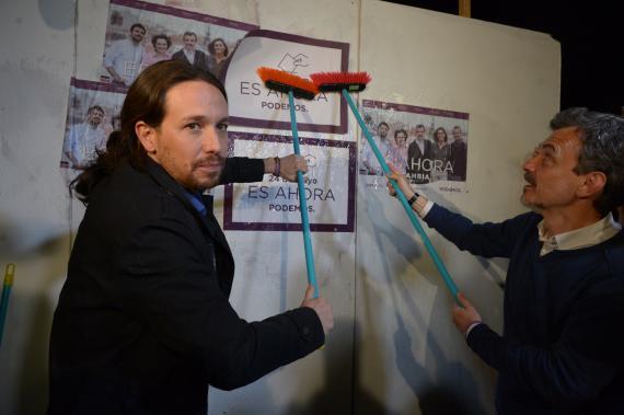 Pablo Iglesias en un acto de campaña de Podemos en 2015.