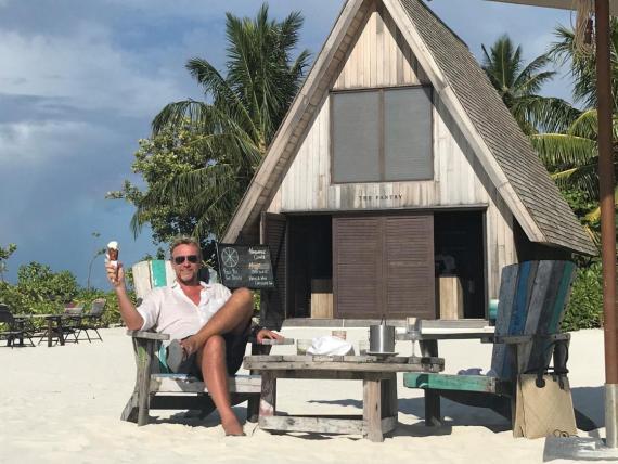 Philippe Kjellgren en el St Regis de las Maldivas.