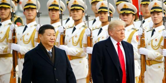 Los presidentes de China y EE.UU., Xi Jinping y Donald Trump