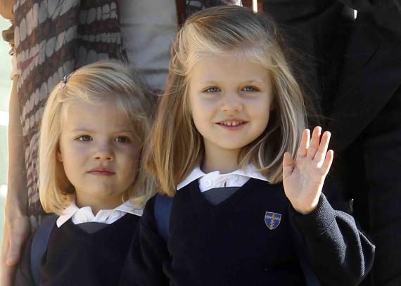 La princesa Leonor en su primera semana de clases.