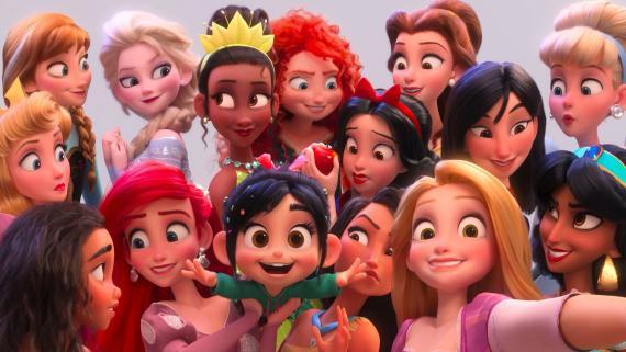 Las princesas Disney en Ralph rompe Internet