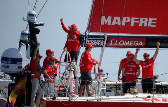 El barco de Mapfre en la Volvo Ocean Race.