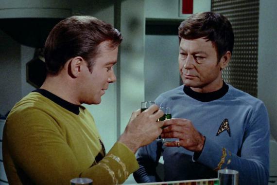 Brindis en el espacio: Star Trek