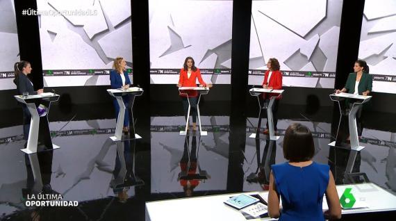 Debate a cinco entre mujeres en La Sexta de cara al 10-N.