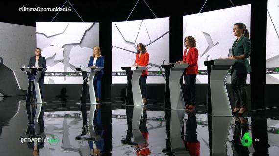 Debate a cinco entre políticas en La Sexta.