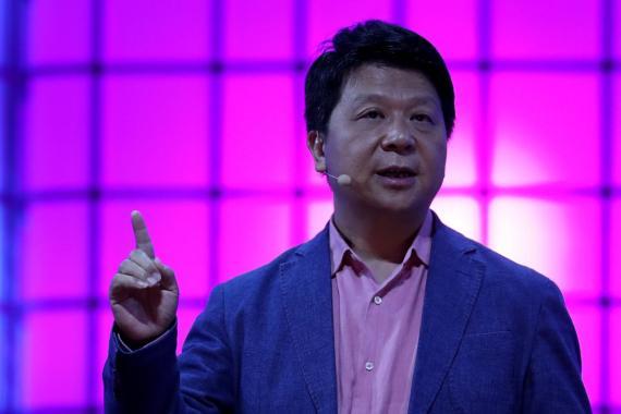 El presidente rotatorio del gigante de comunicaciones Huawei, Guo Ping