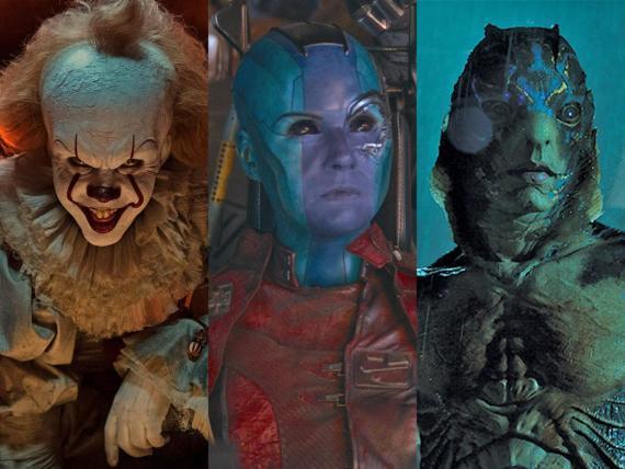 """El payaso Pennywise, Nebula de Marvel y el hombre anfibio de """"La forma del agua"""" son personajes conocidos."""