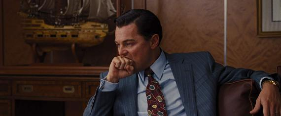 Leonardo DiCaprio en El Lobo de Wall Street.