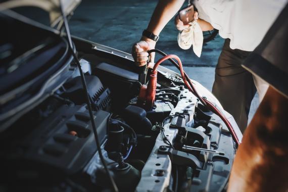 Pinzas batería coche