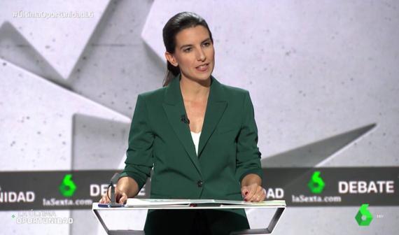 Rocío Monasterio, portavoz de Vox en el debate de La Sexta