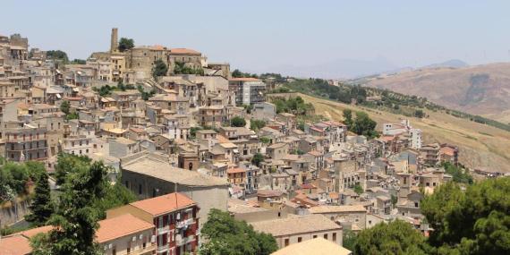 Una fotografía de Cammarata, en Sicilia.
