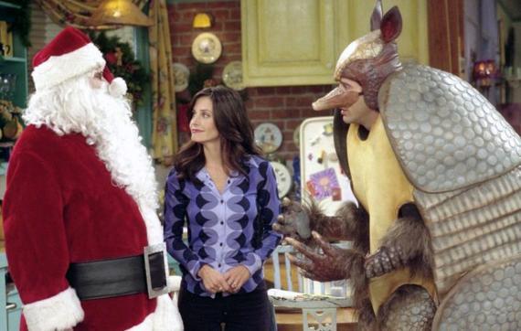 Escena de Navidad de la serie Friends