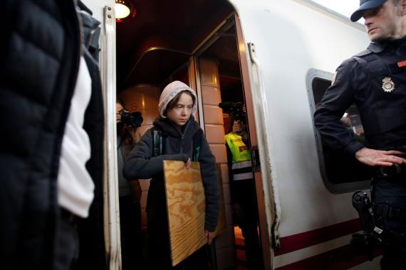 Greta Thunberg llega a Madrid