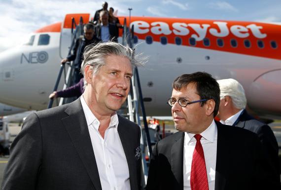 Johan Lundgren, CEO deEasyJet, y Nicolas Notebaert, CEO de Aeropuertos VINCI