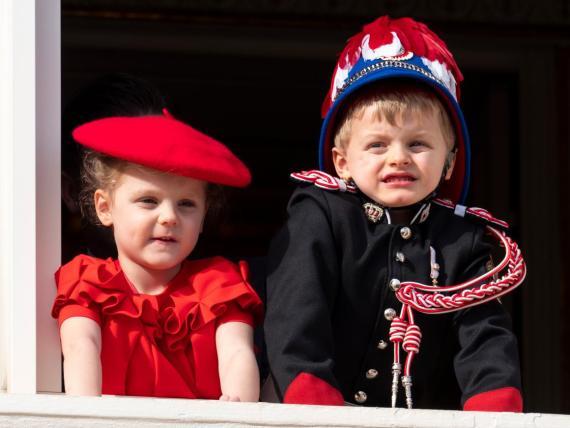 El Príncipe Jacques y la Princesa Gabriella de Mónaco en el Día Nacional.