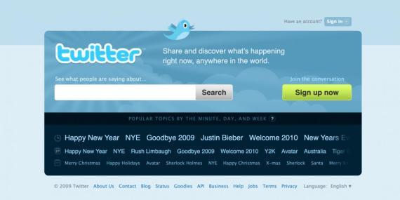 Twitter en 2010