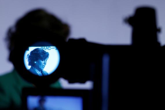Ana Botín captada por una cámara.