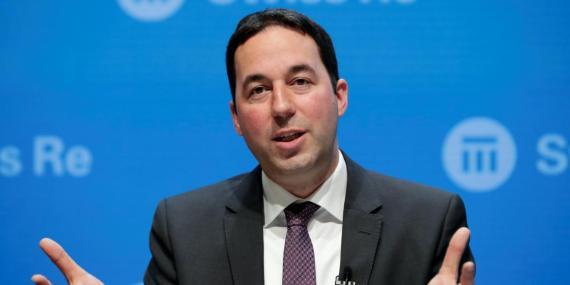 Christian Mumenthaler, CEO de la segunda reaseguradora más grande del mundo, Swiss Re, durante una conferencia en Zúrich.