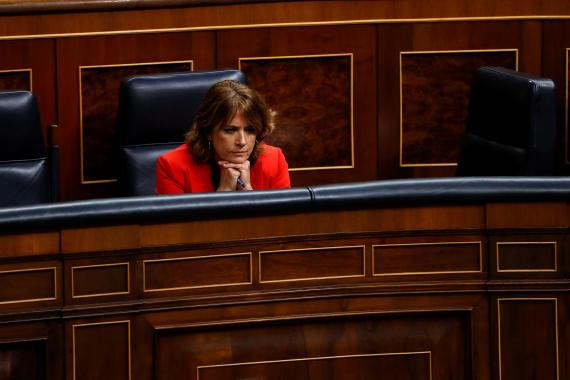 Dolores Delgado, en una sesión parlamentaria en el Congreso.