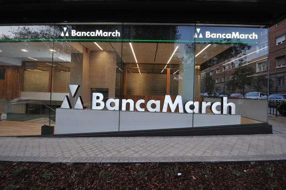 Imagen de la oficina de Banca March en Juan Bravo.