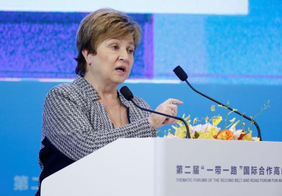 Kristalina Georgieva, directora del FMI, durante un evento en Beijing