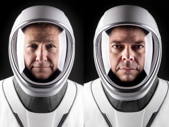 NASA astronauts Doug Hurley (left) and Bob Behnken (right) are slated to be the first people SpaceX launches into orbit.