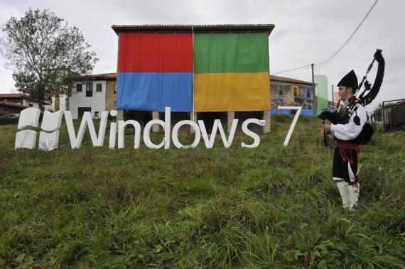 Microsoft presentó Windows 7 en 2009 en Sietes, un pueblo de Asturias.