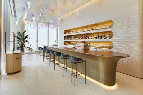 El restaurante de Louis Vuitton tiene un estilo Art Decó