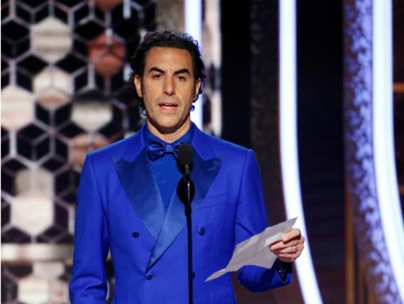 Sacha Baron Cohen, durante los Globos de Oro.