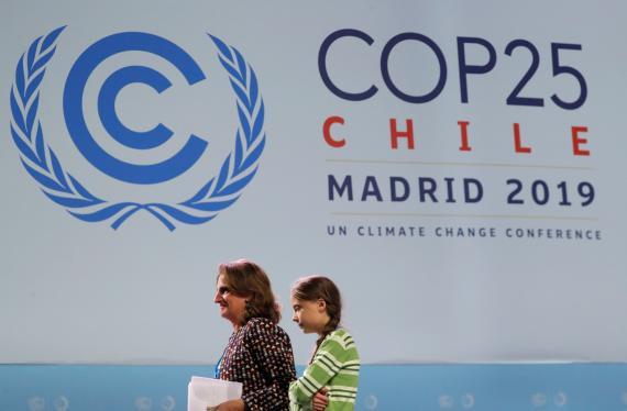 Teresa Ribera y Greta Thunberg en la COP 25