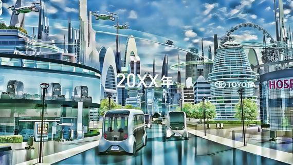 Así se imagina Toyota las ciudades del futuro... y el transporte.
