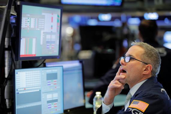 Trader operando en Wall Street.